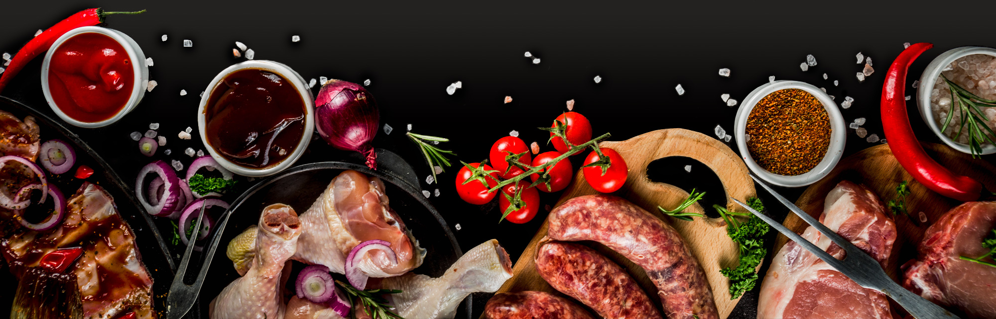 fresh local meat and vegetables